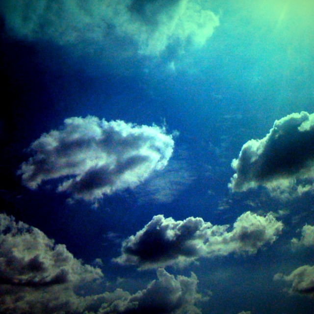 LA clouds, heaven, blue fluffy wonder