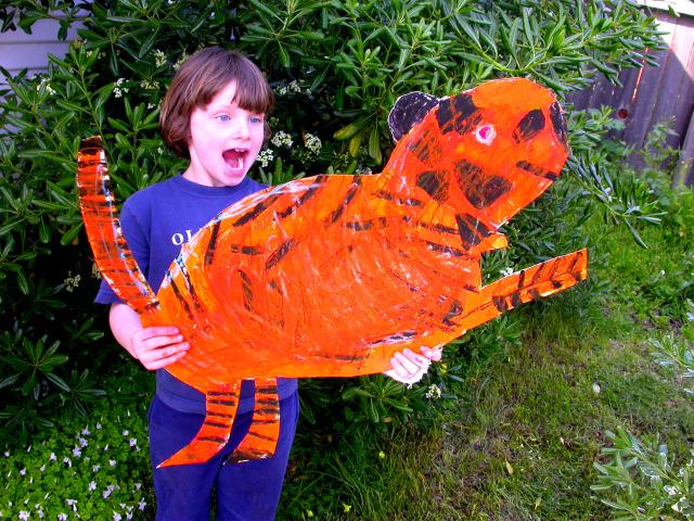 Blog Circle, Tiger Jumping, Surprise, Tiger