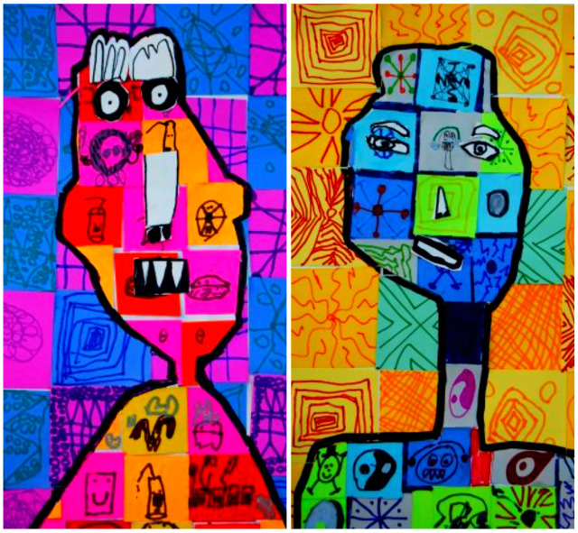 super graphic, checkboard pattern, personality portraits, graffiti