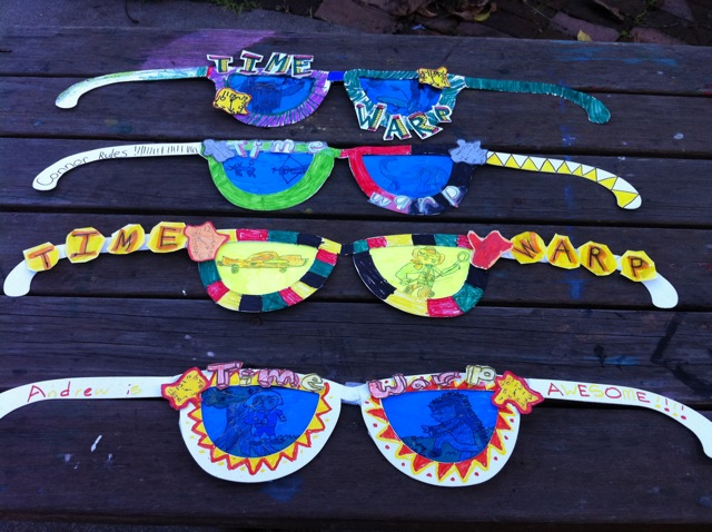 time warm sunglasses, children's art